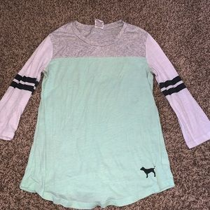 VS PINK 3/4 sleeve T-shirt